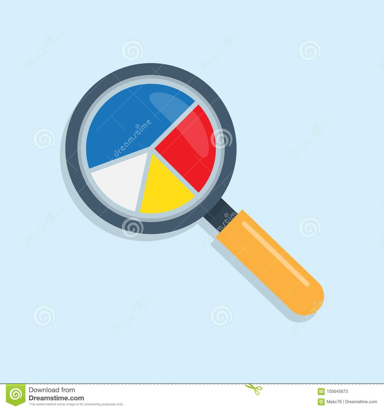 Marketing data analytics with magnifying glass icon and pie chart marketing data analytics with magnifying glass icon and pie chart nvjuhfo Image collections