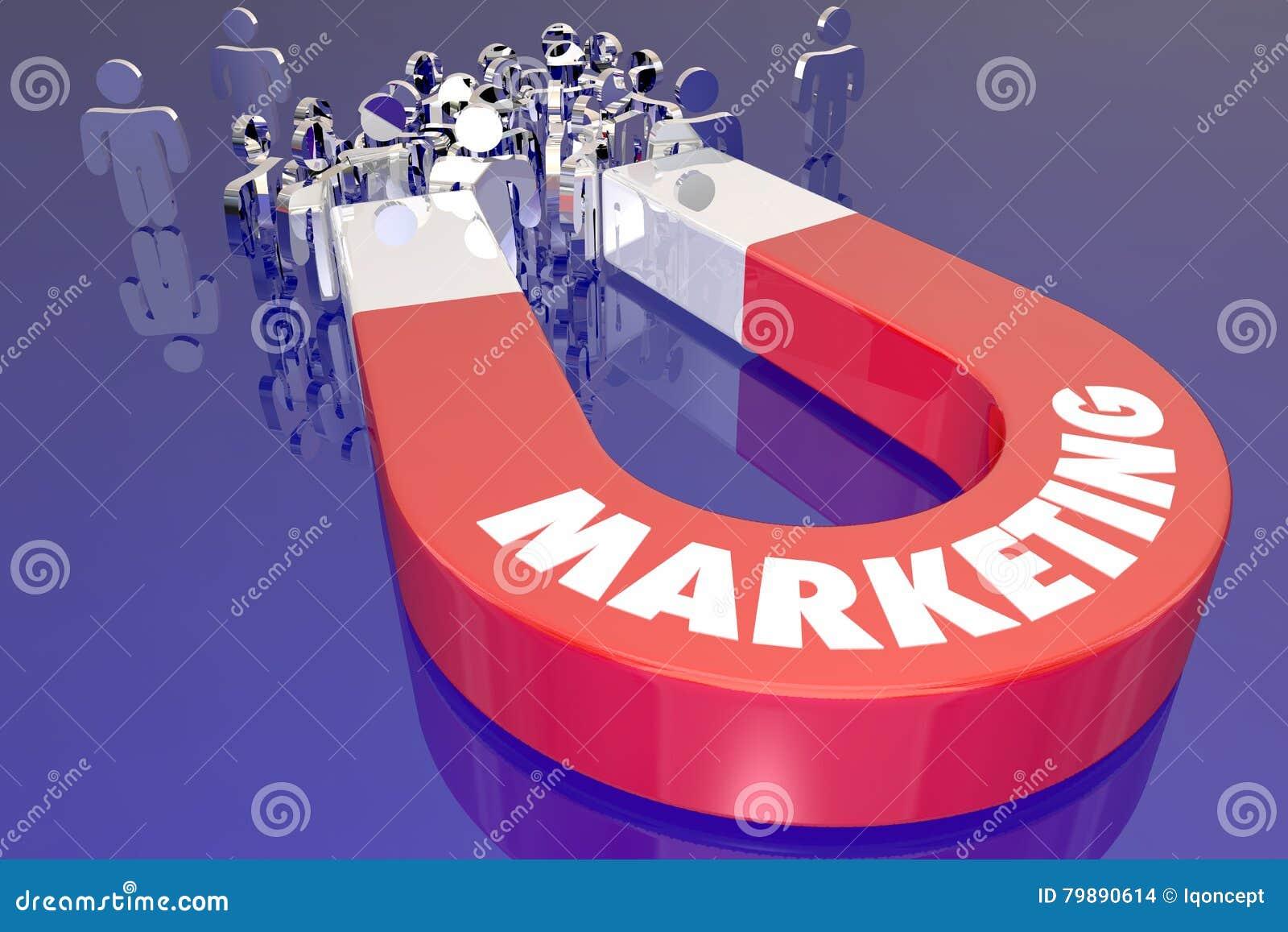 Marketing de Magneettrekkracht trekt Nieuwe Klanten aan
