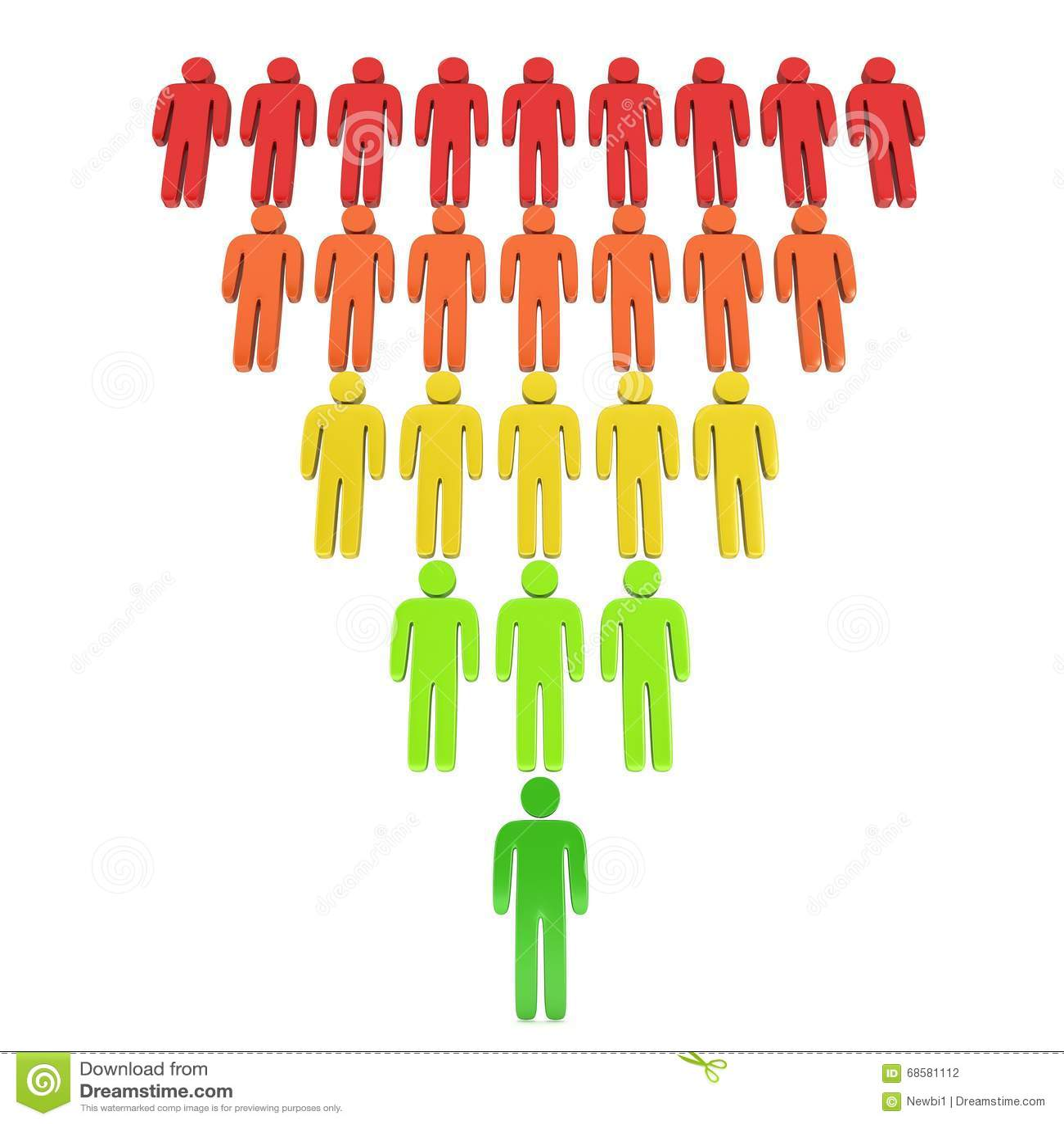 marketing funnel sales stock illustration illustration of process