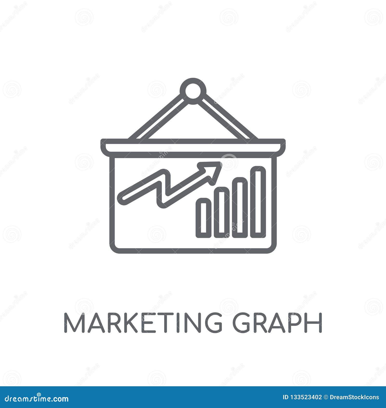marketing Graph linear icon. Modern outline marketing Graph logo