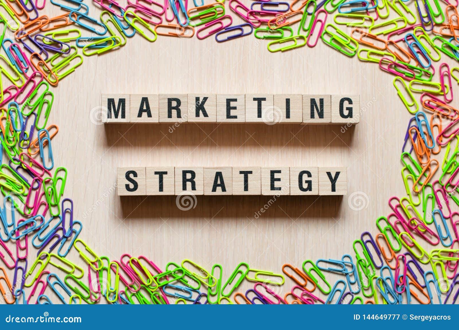 Marketing het concept van strategiewoorden