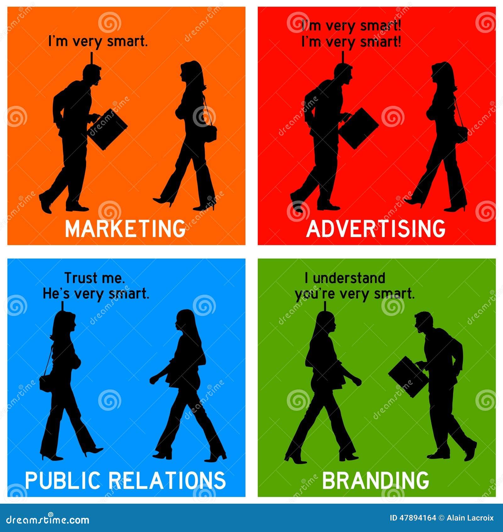 Marketing-Markenartikelwerbung Stock Abbildung - Illustration ...