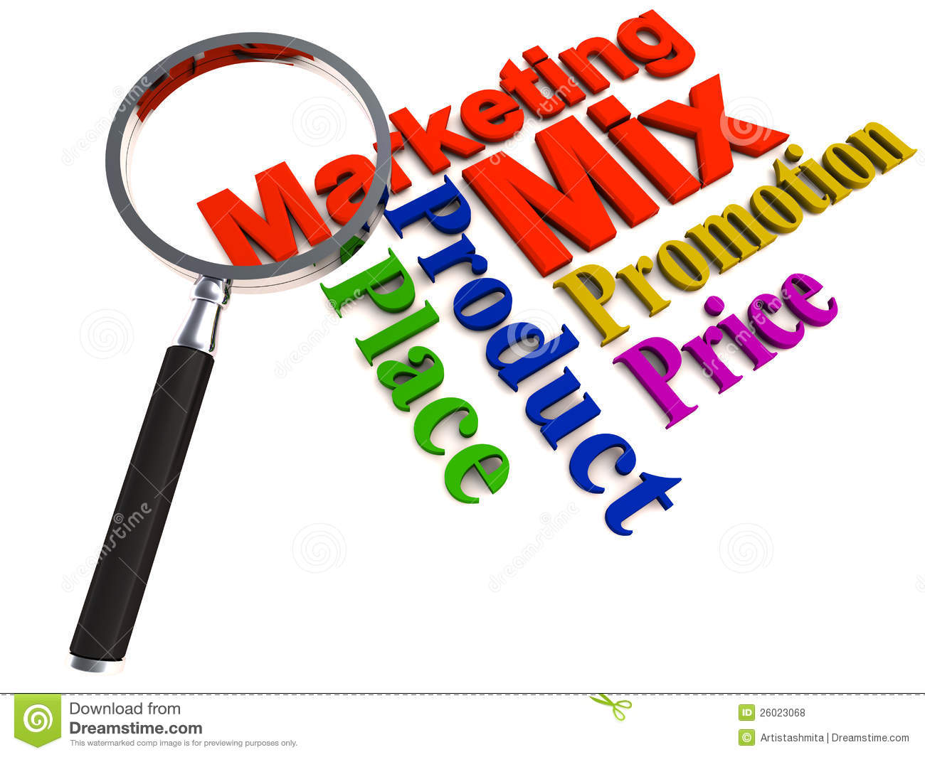 Marketing mix stock illustration. Illustration of price  26023068