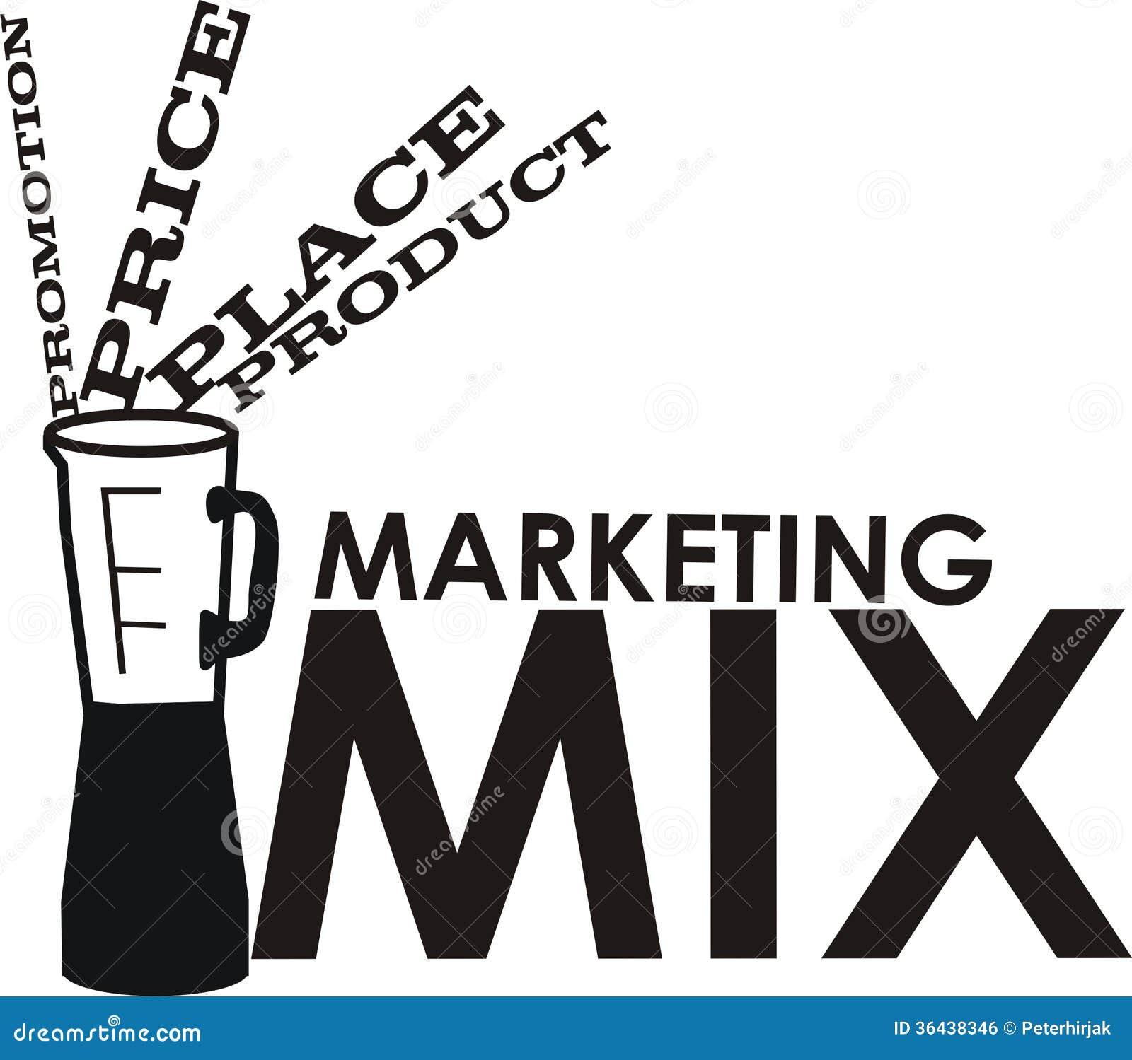 marketing mix royalty free stock image