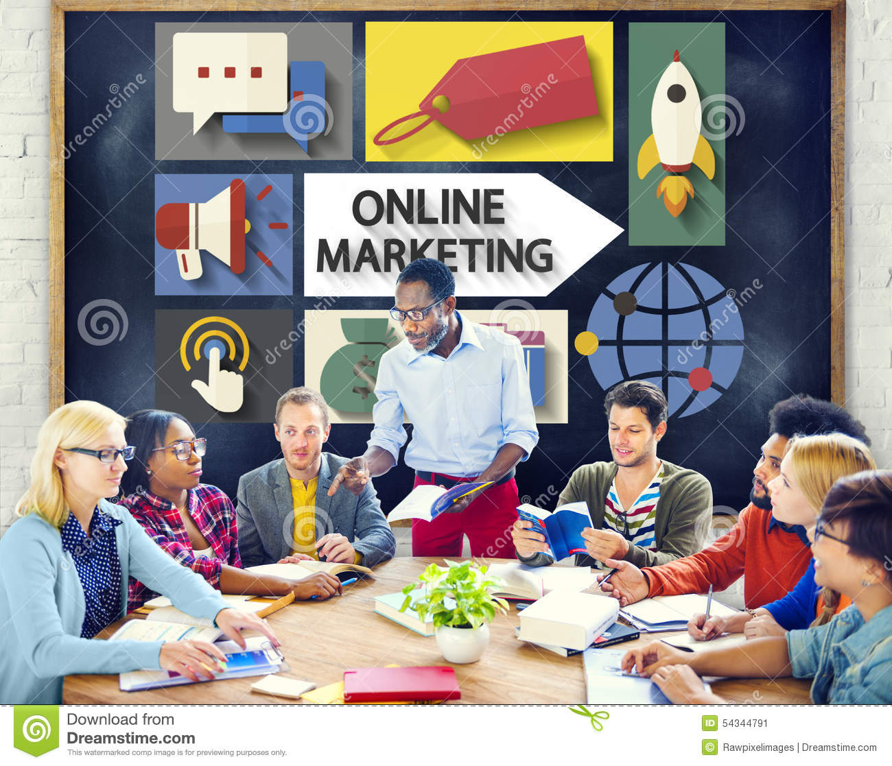 Marketing online Brandmerkende Globale Mededeling die Concept analyseren