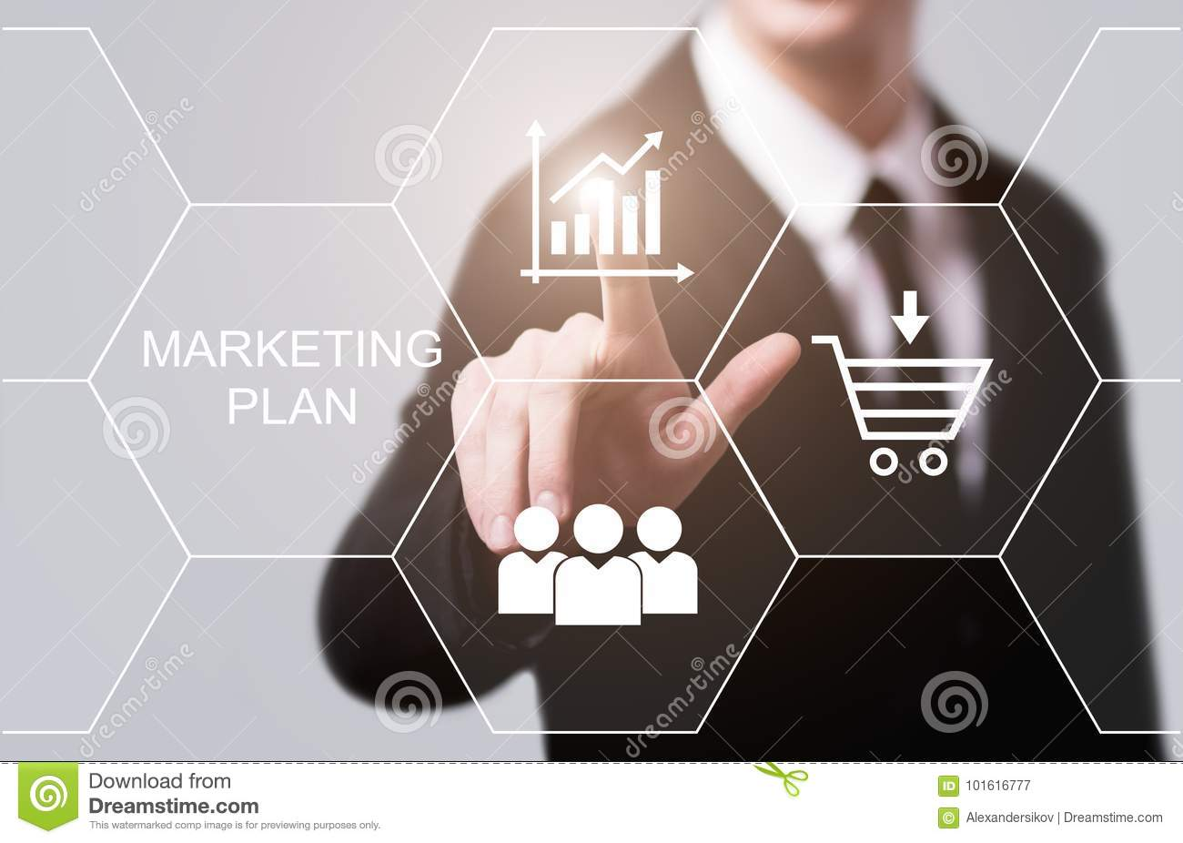 Marketing Plan Business Advertising Strategy Promotion concept