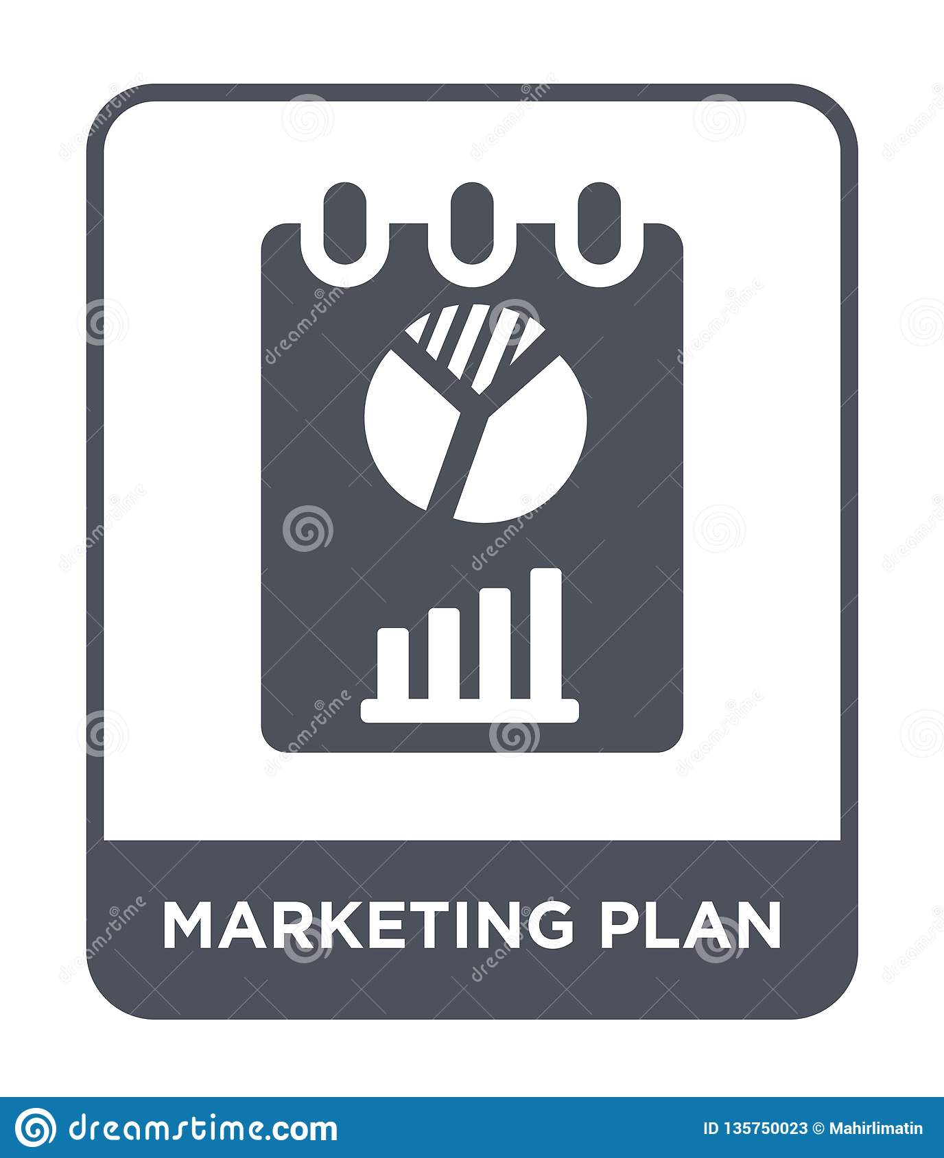 marketing plan icon in trendy design style. marketing plan icon isolated on white background. marketing plan vector icon simple