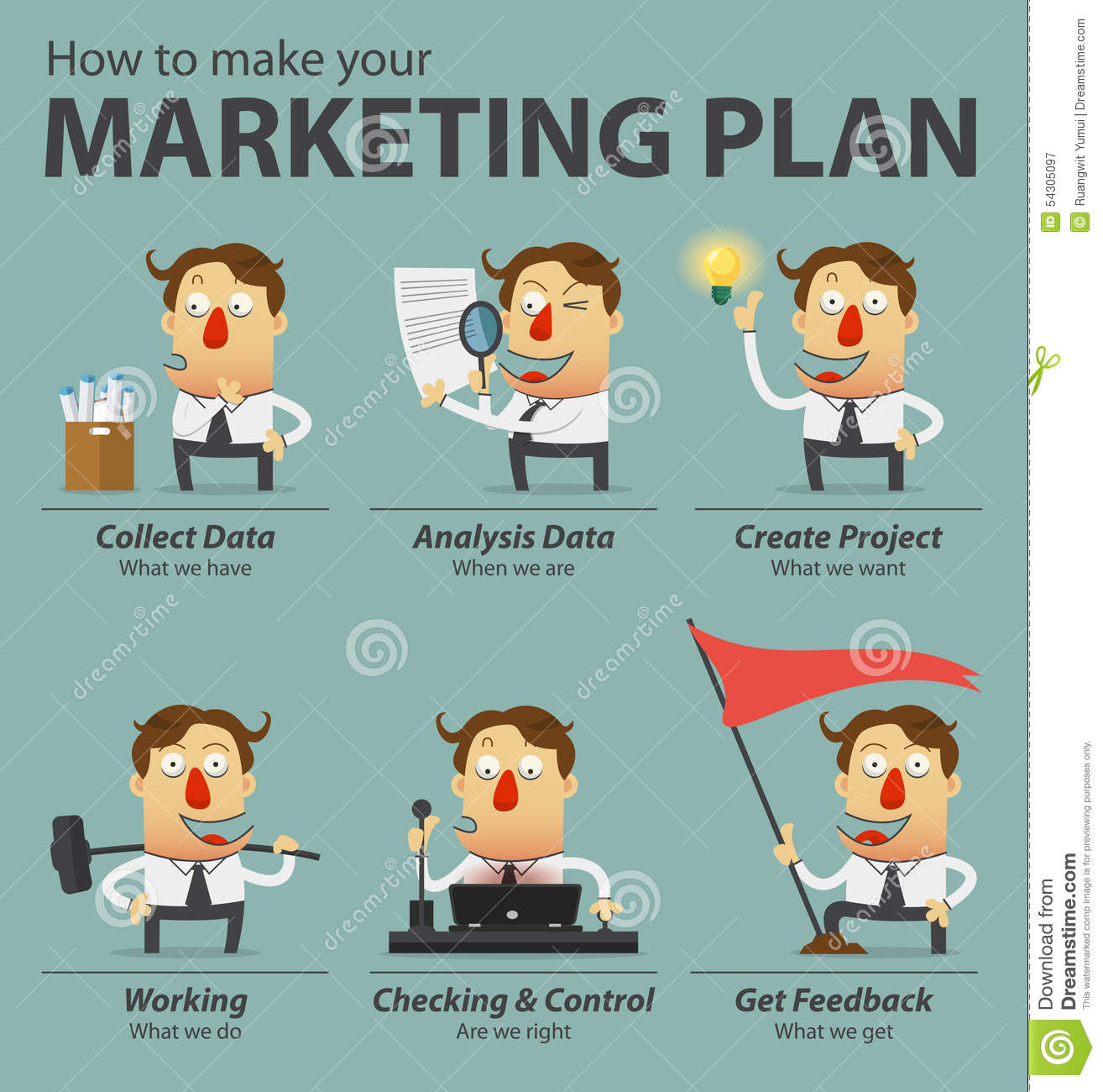 business plan cartoon