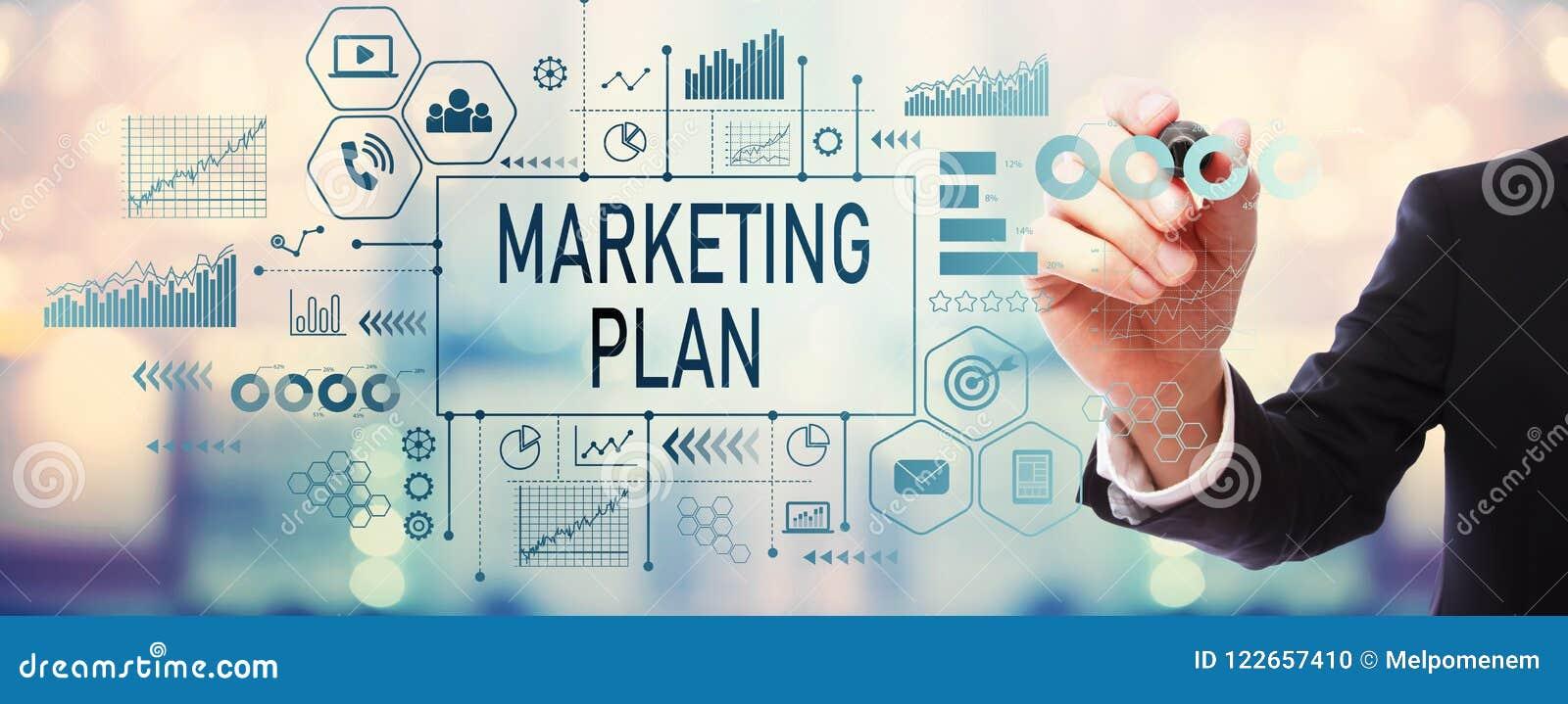 Marketing Plan met zakenman