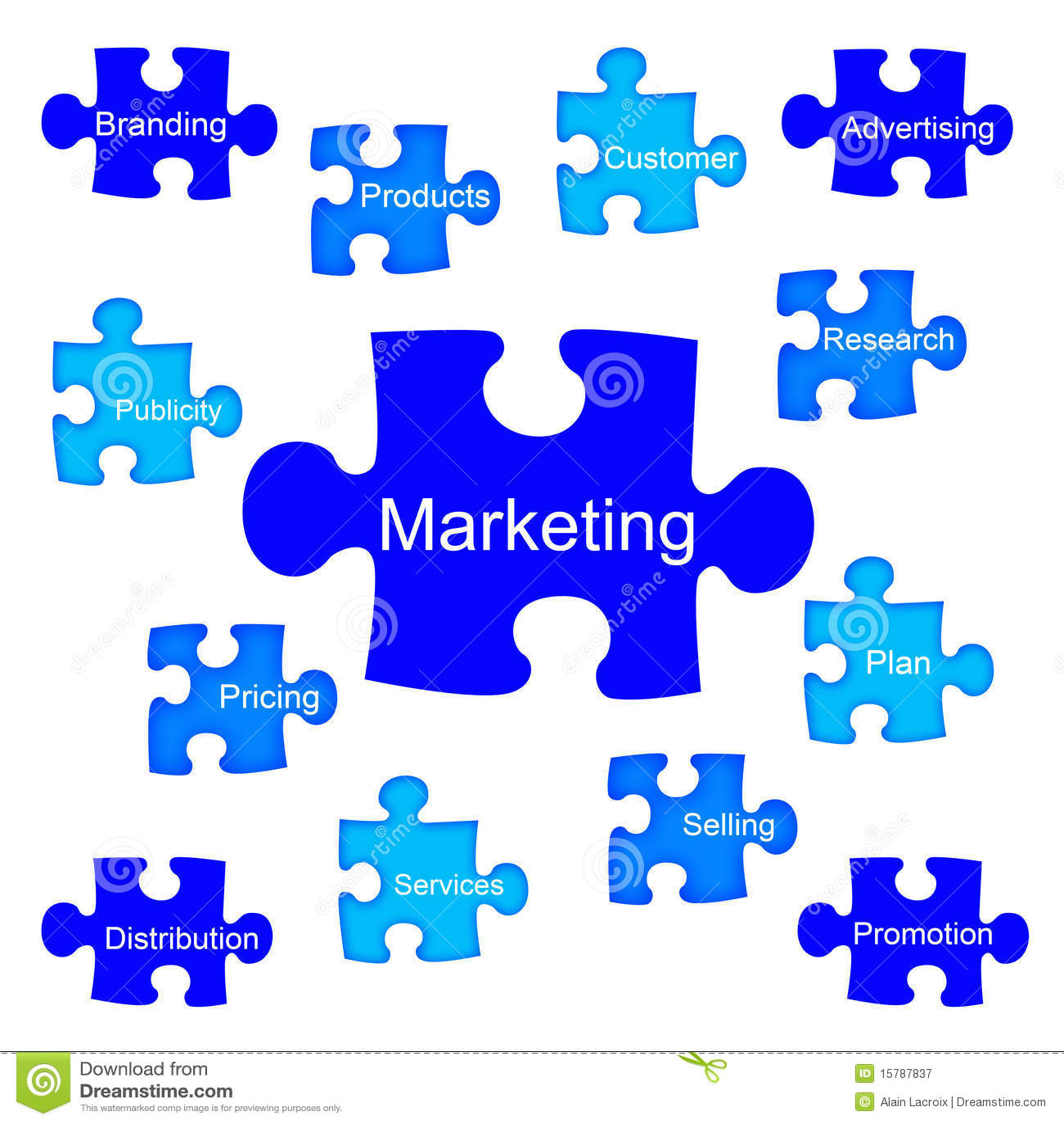 Marketing puzzle royalty free stock photography image 15787837