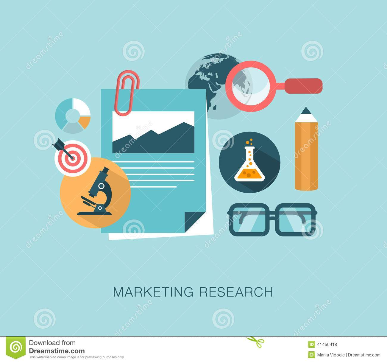 Marketing Research Concept Illustration Stock Vector Image  Marketing Research Concept Illustration Various Uses  Stock Illustration Marketing Research Concept Illustration Various Uses Image