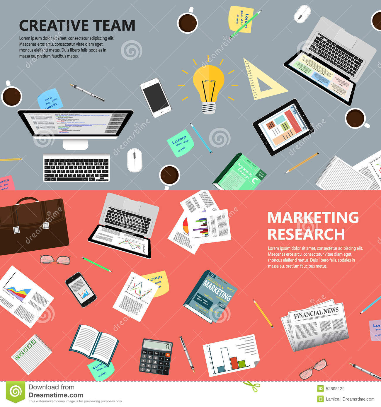Marketing research concept