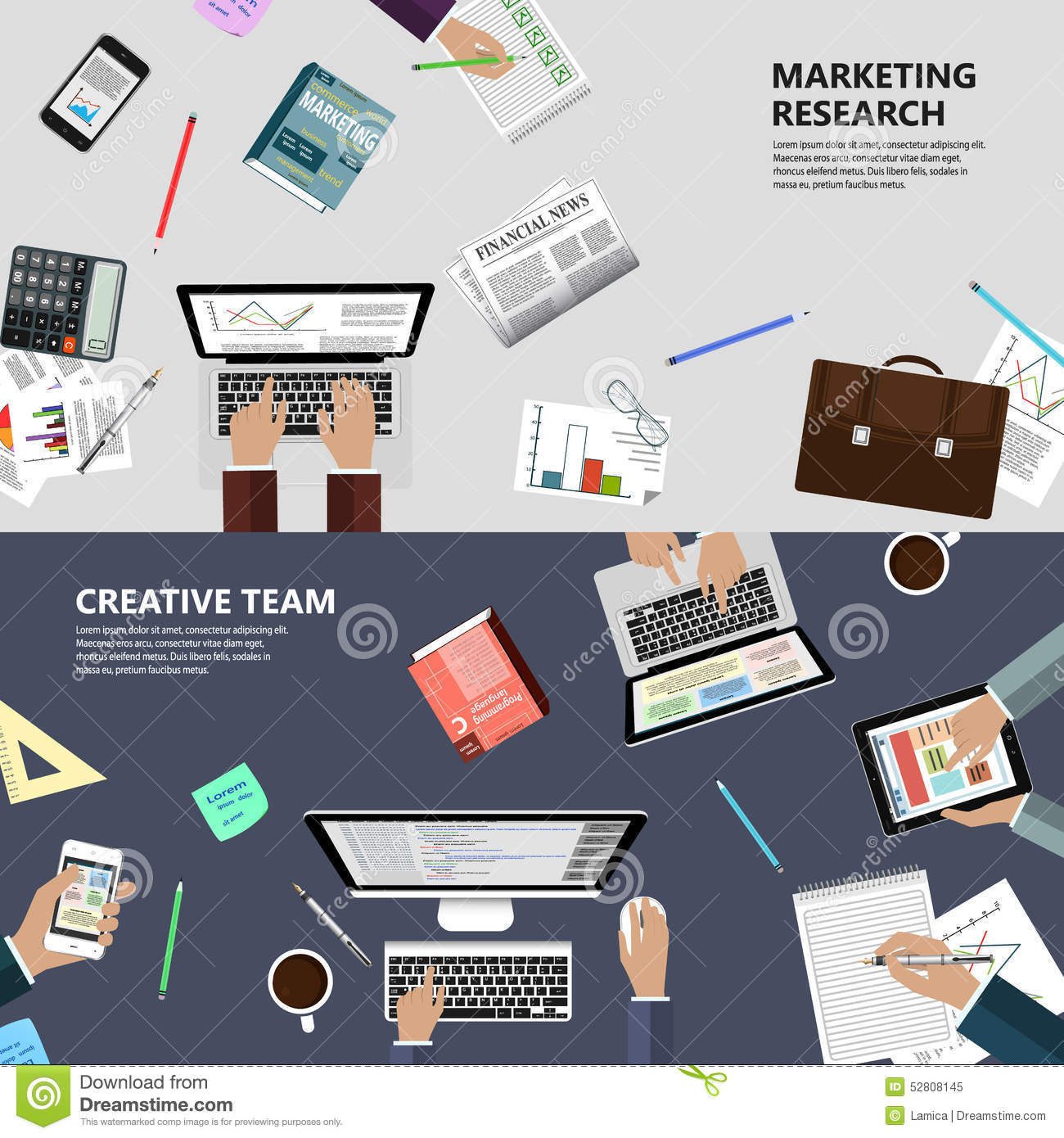 Marketing Research Concept And Applications Gamitiocom Marketing Research Creative Team Concept Modern Flat Design E Business Web Sites Mobile Applications Banners Corporate  Paper