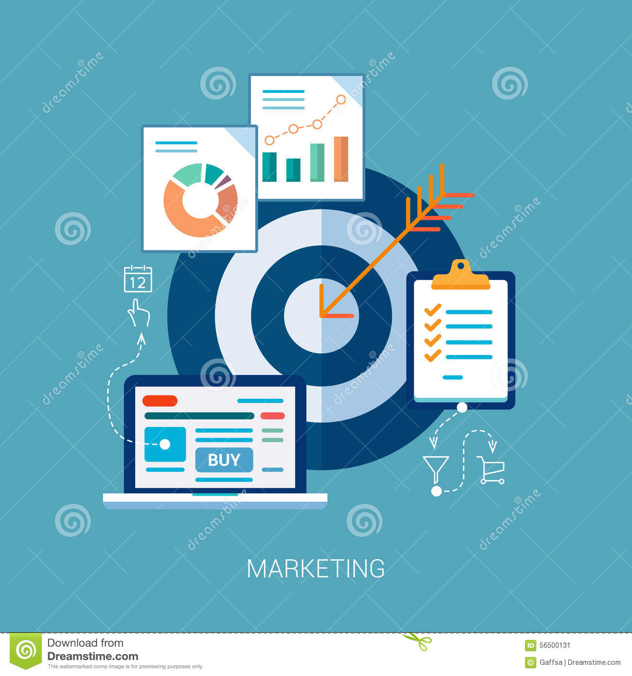 marketing and s analytics tasks flat icons stock vector marketing and s analytics tasks flat icons stock image
