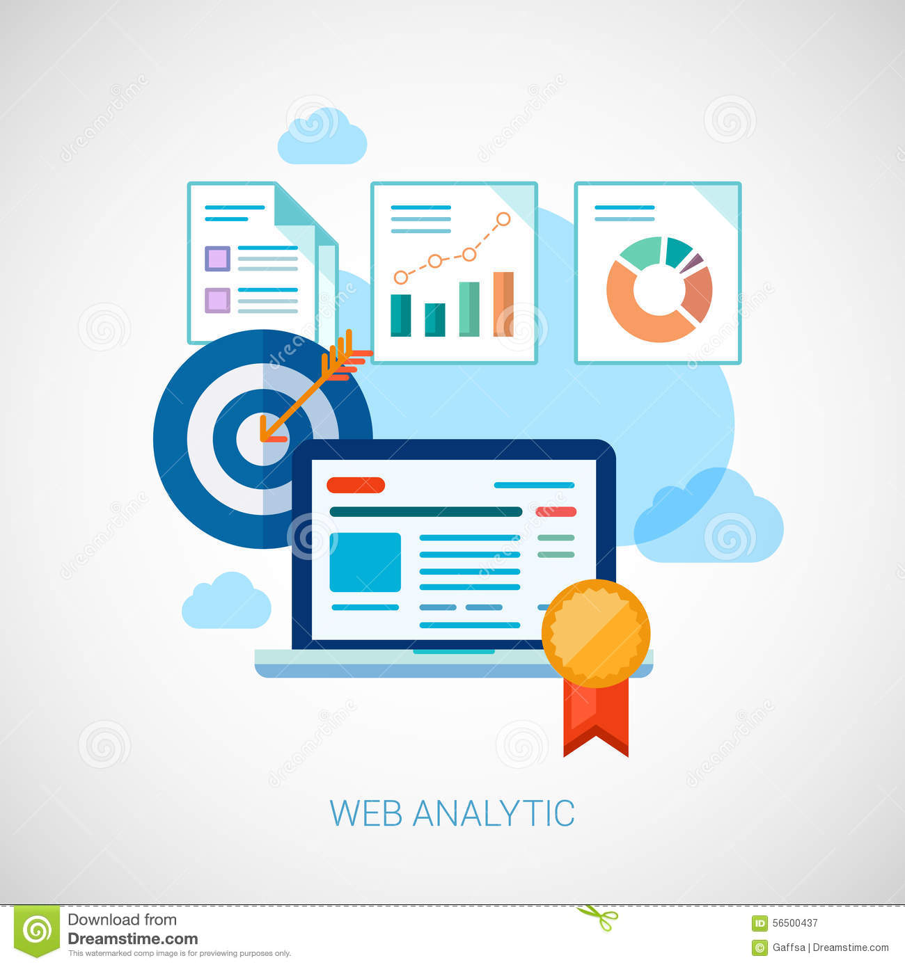marketing and s analytics tasks flat icons stock vector marketing and s analytics tasks flat icons