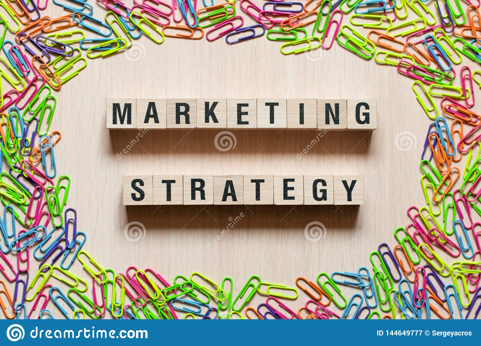 Marketing strategy words concept