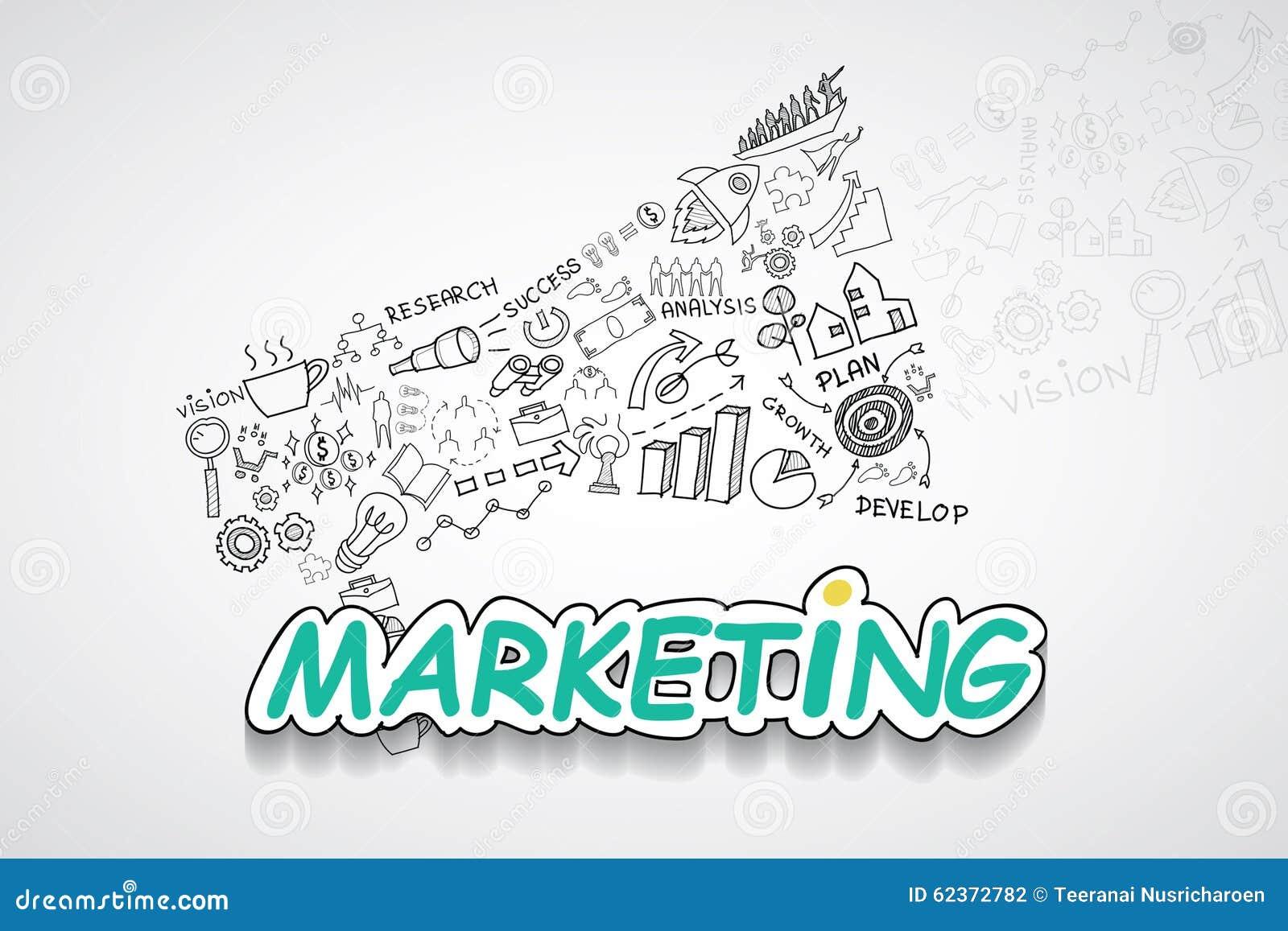Marketing-Text, Mit Kreativer Zeichnungsdiagramm- Und ...