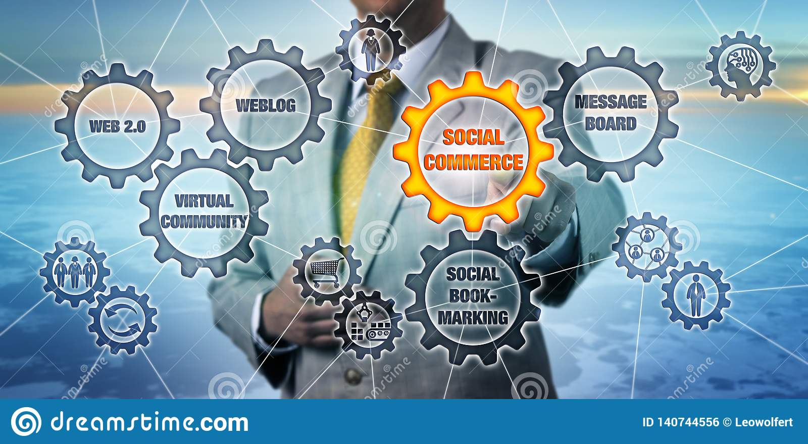Marketingspezialist-Touching Social Commerce-Zahnrad
