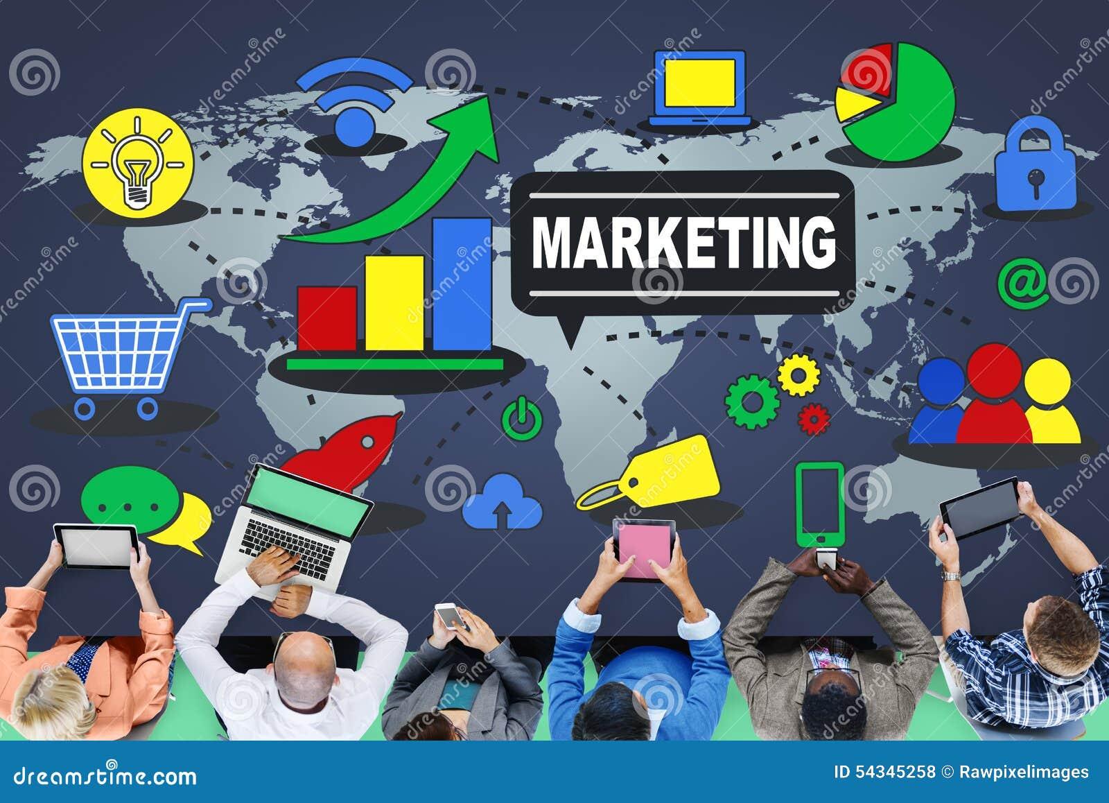 Marketingstrategie, die Handelsanzeigen-Plan einbrennt