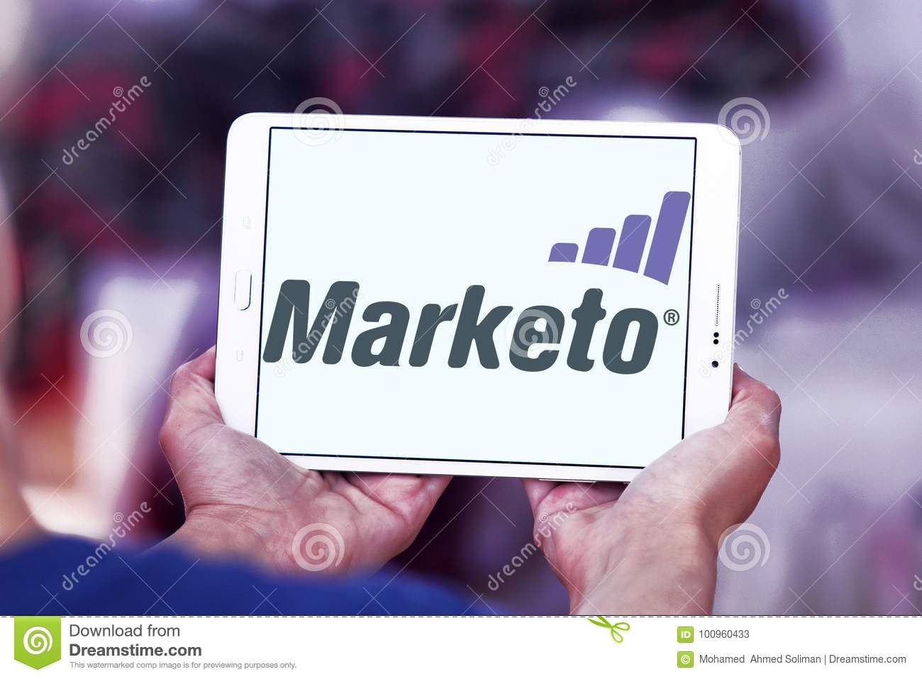 Marketo company logo editorial stock photo. Image of ...