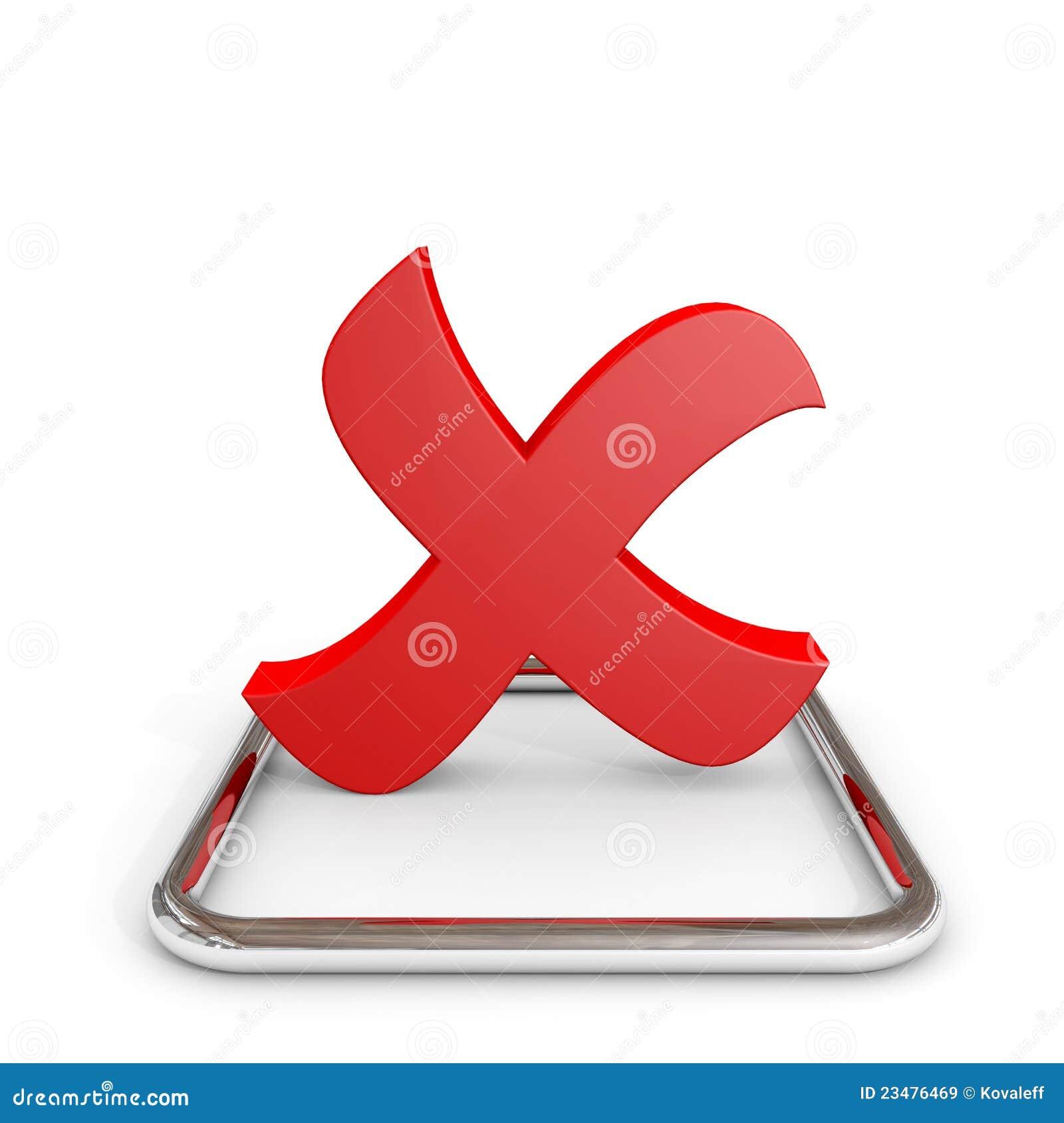 Markierung des roten Kreuzes 3D im Chrom Checkbox.
