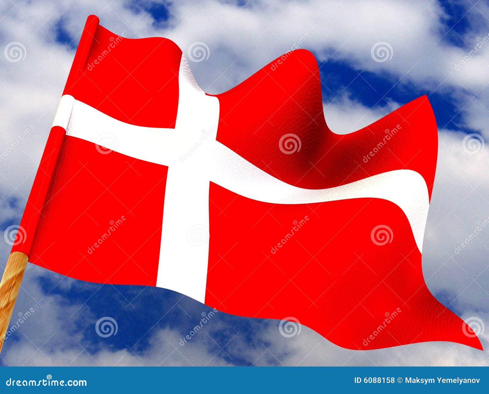 Markierungsfahne. Dänemark