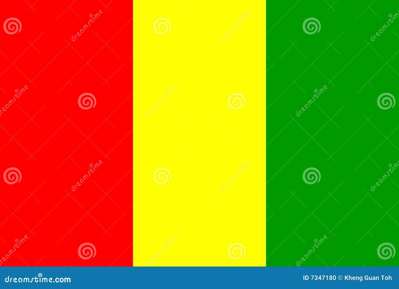 Markierungsfahne der Guine