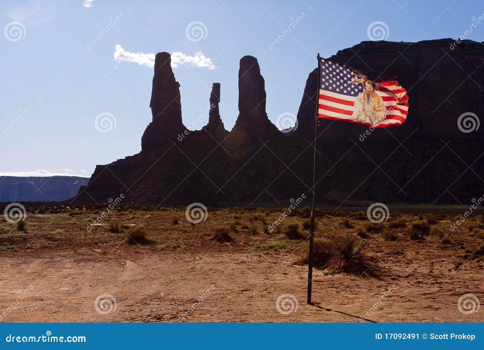 Markierungsfahne an der Navajo-indischen Reservierung