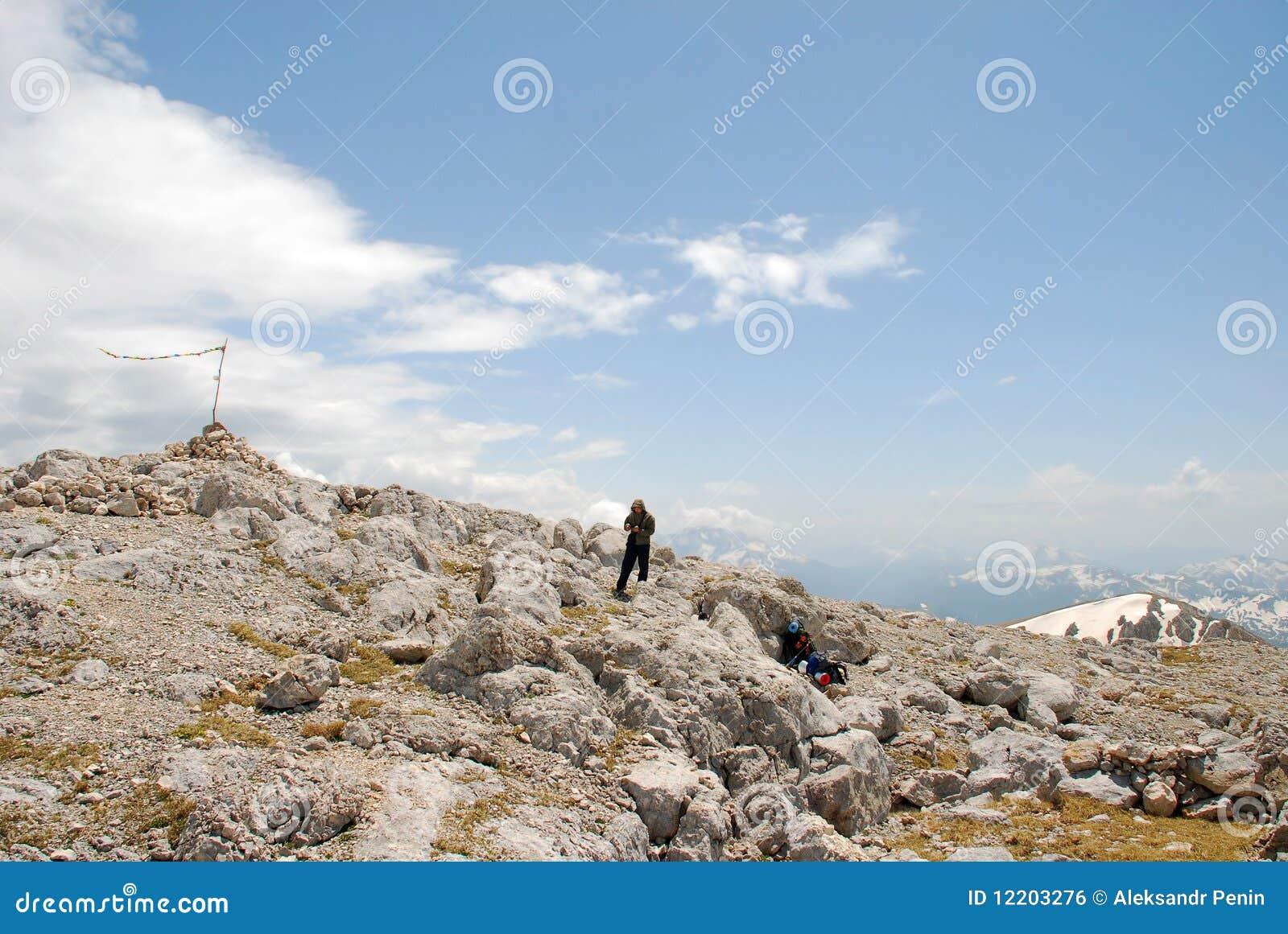 Markierungsfahne - Gebirgsspitze