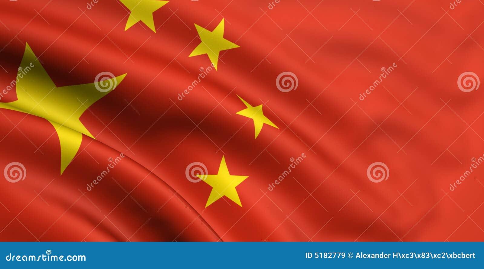 Markierungsfahne von China