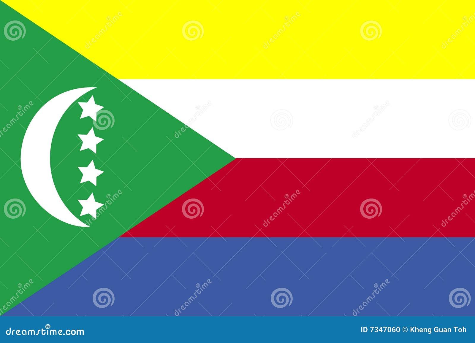 Markierungsfahne von Comoren