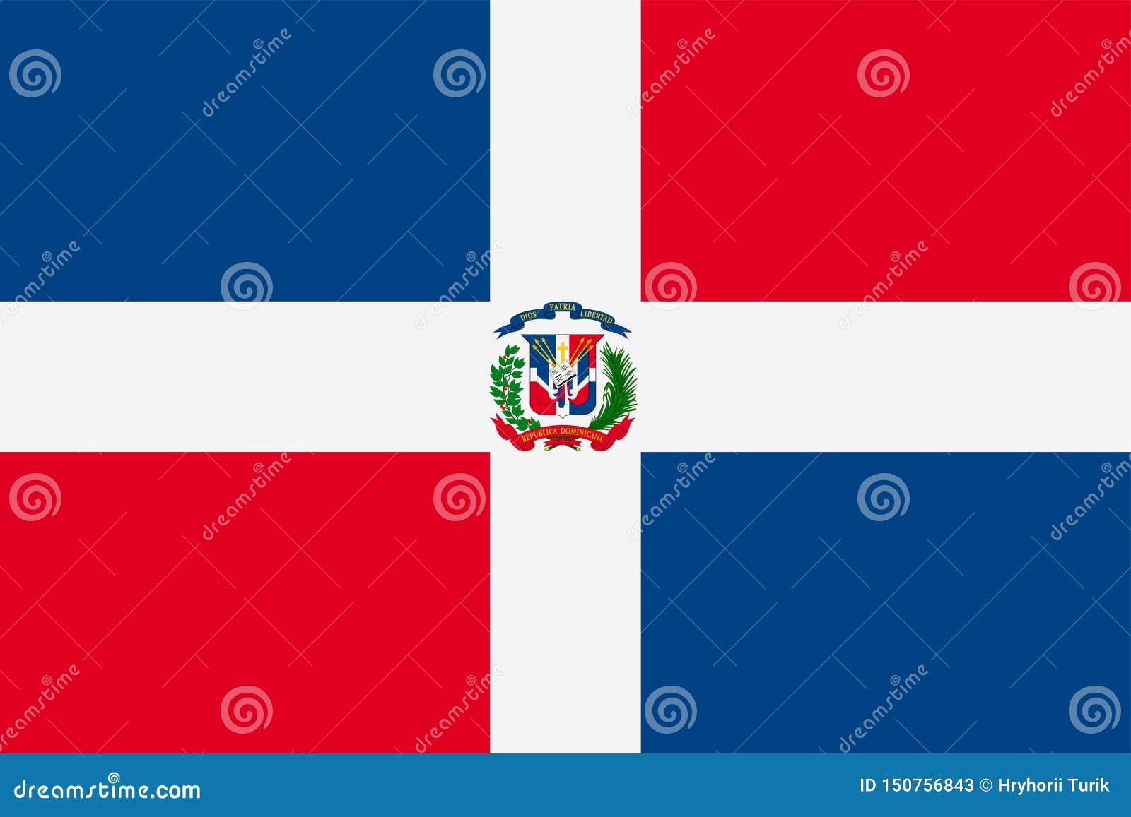 Markierungsfahne von Dominikanischer Republik Flagge des souveränen Staats von Dominikanischer Republik