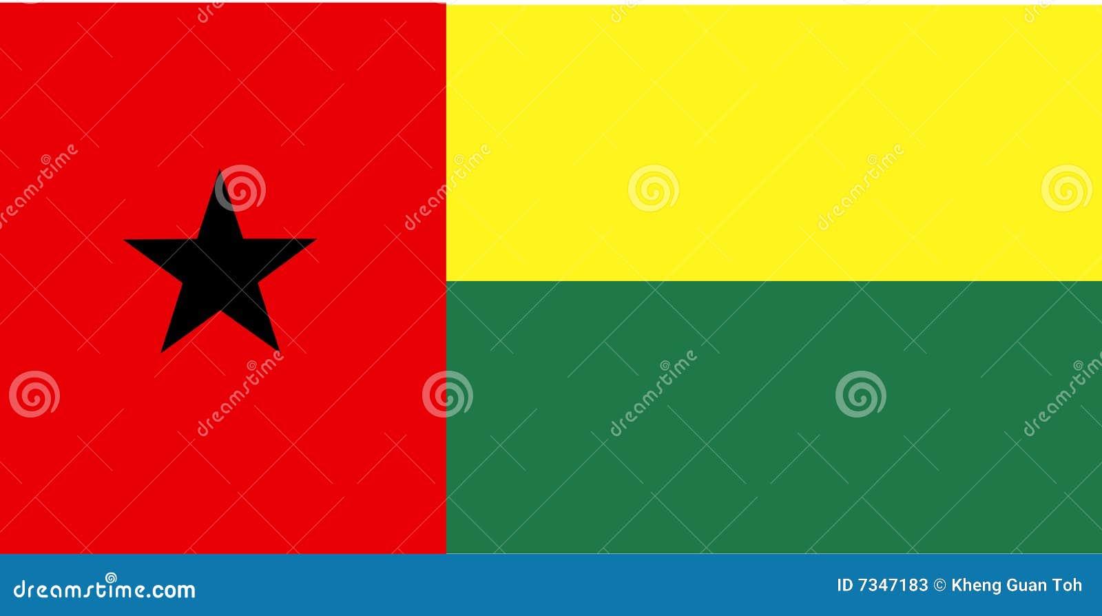Markierungsfahne von Guinea-Bissau