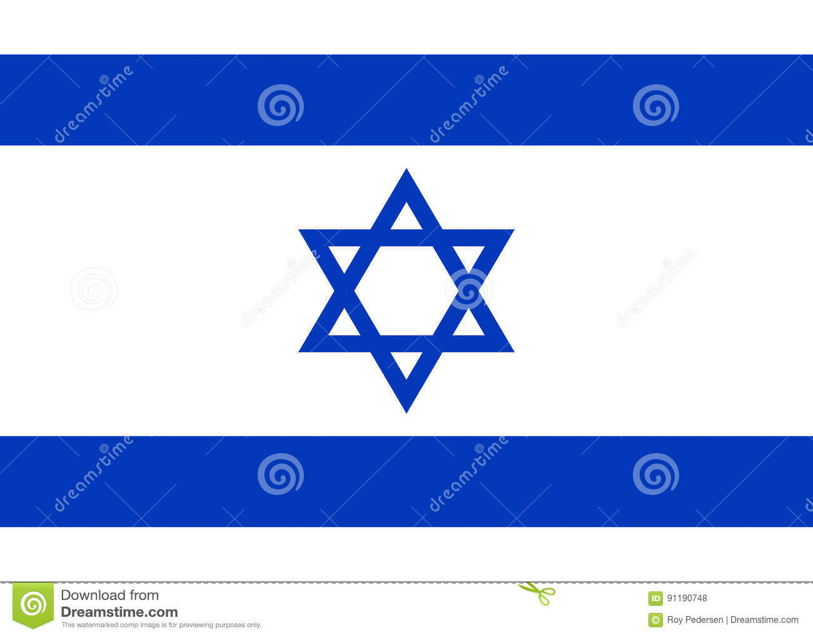 Markierungsfahne von Israel