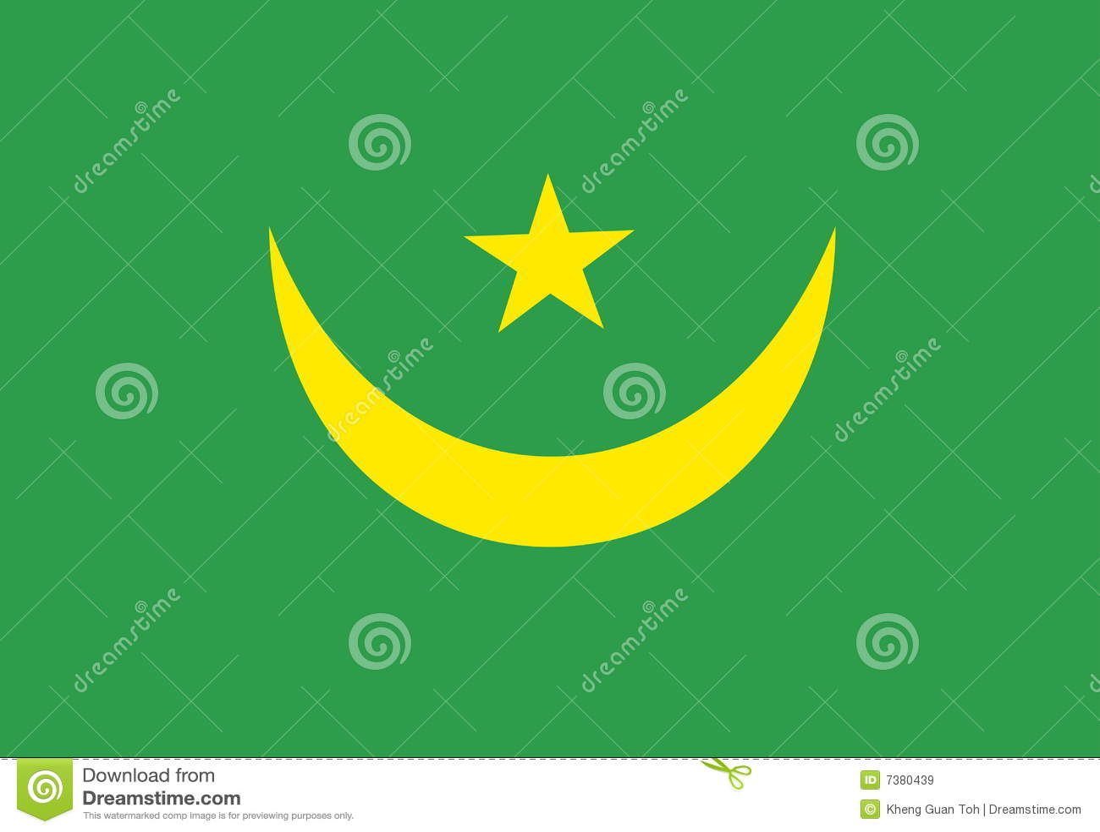 Markierungsfahne von Mauretanien