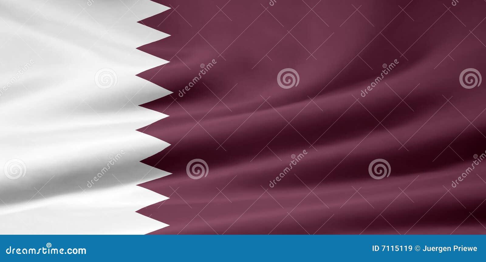 Markierungsfahne von Qatar