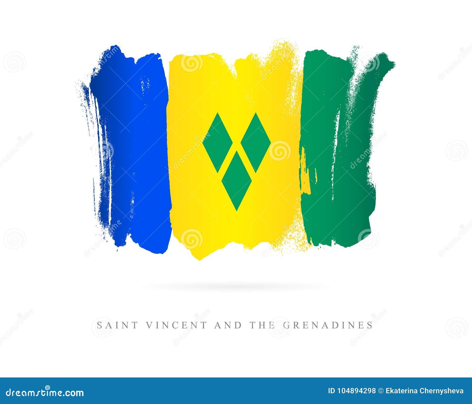 Markierungsfahne von Saint Vincent And The Grenadines