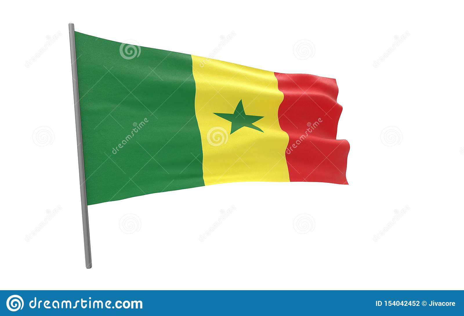 Markierungsfahne von Senegal
