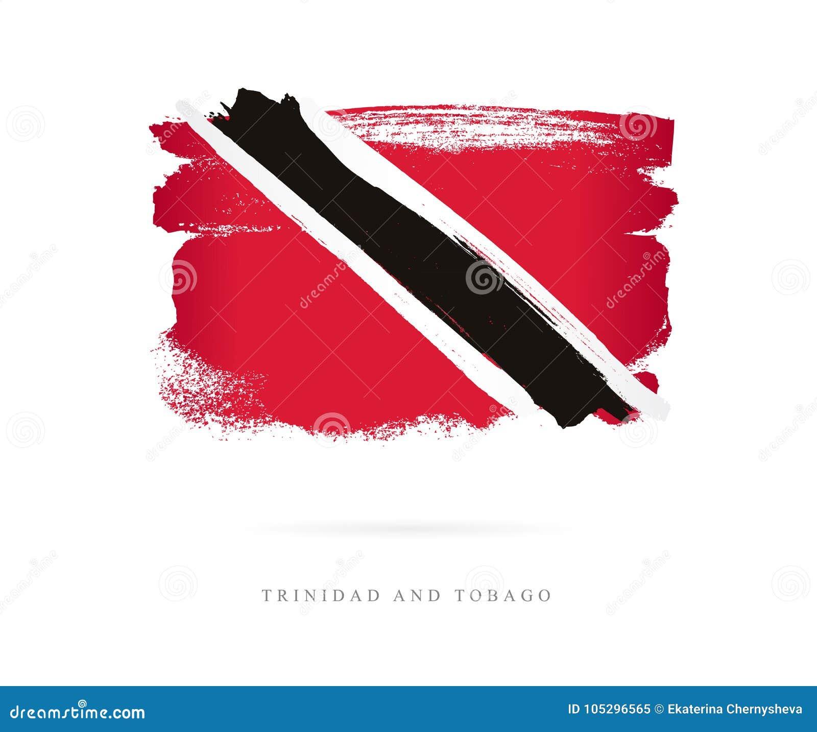 Markierungsfahne Von Trinidad And Tobago Vektor Abbildung ...