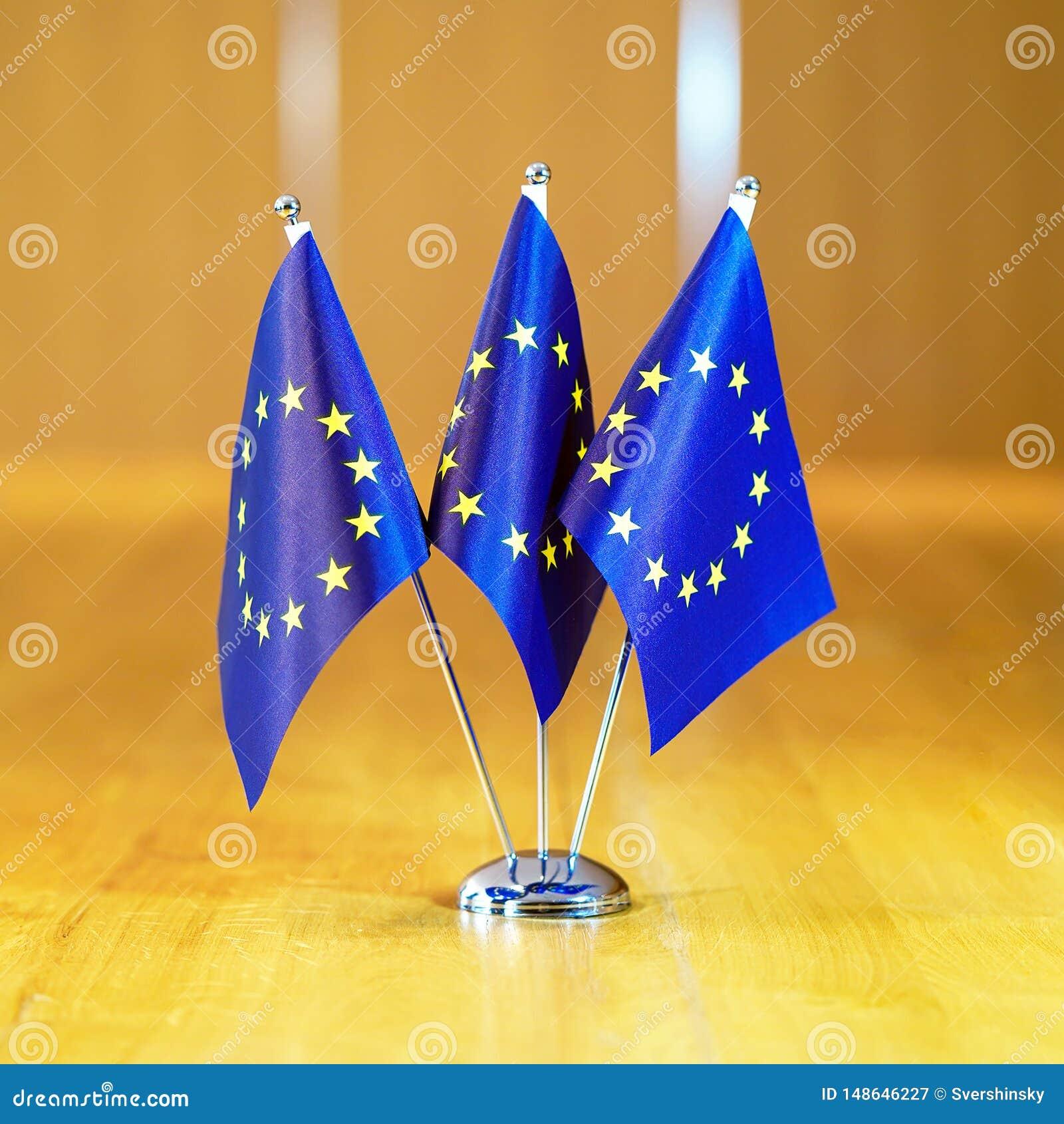 Markierungsfahnen der Europ?ischer Gemeinschaft