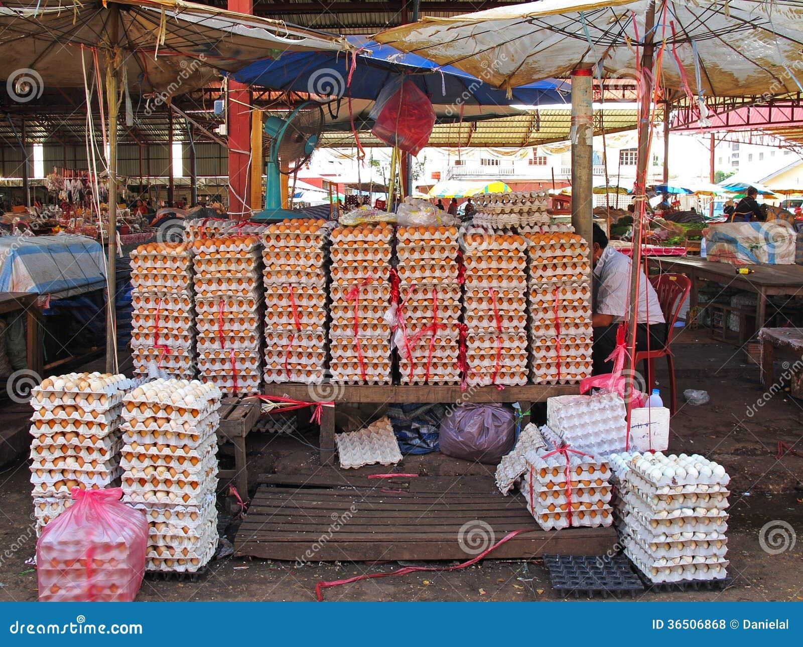 Marknad i Laos