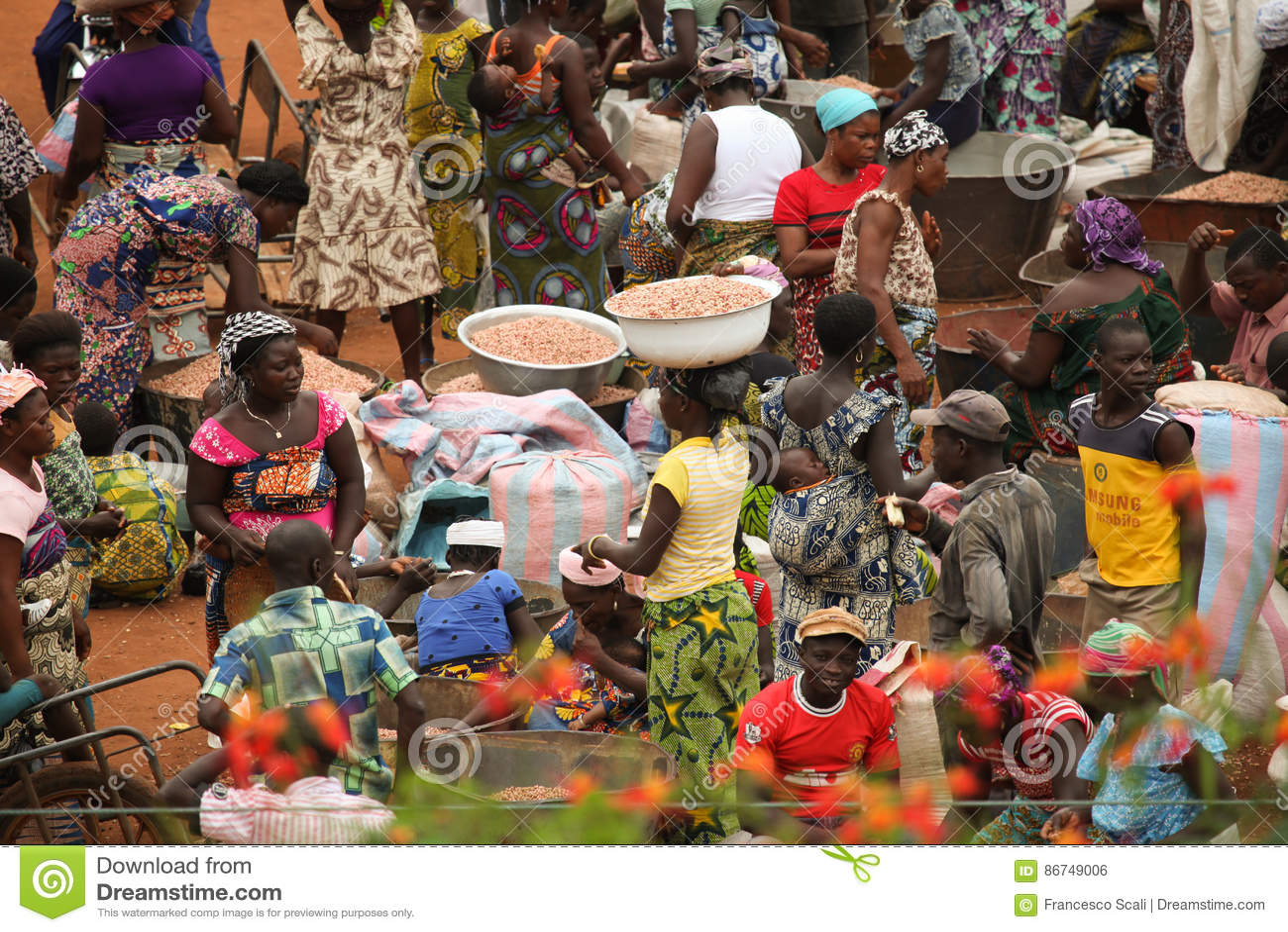 Markt in Benin, Afrika