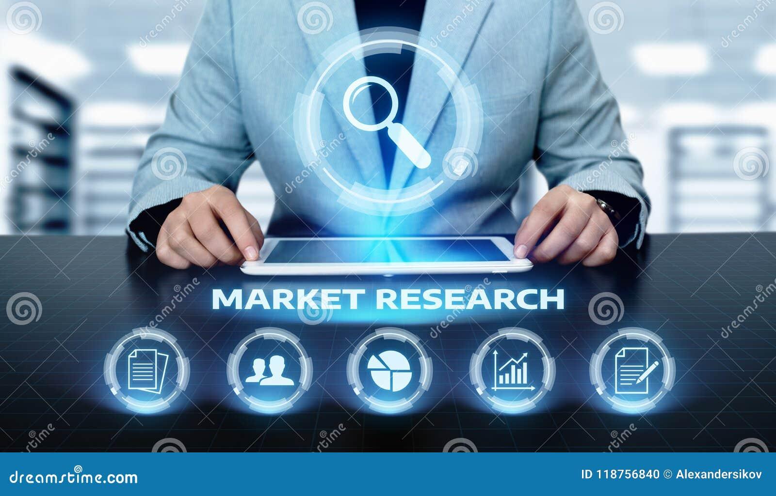 Marktonderzoek Marketing het concept Strategie van Bedrijfstechnologieinternet