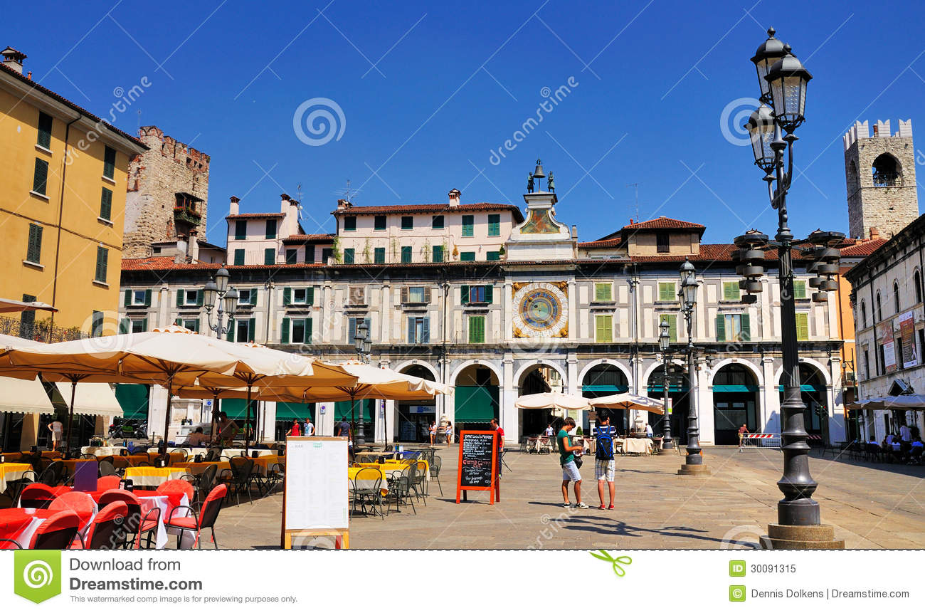 marktplatz della loggia brescia italien redaktionelles bild bild 30091315. Black Bedroom Furniture Sets. Home Design Ideas