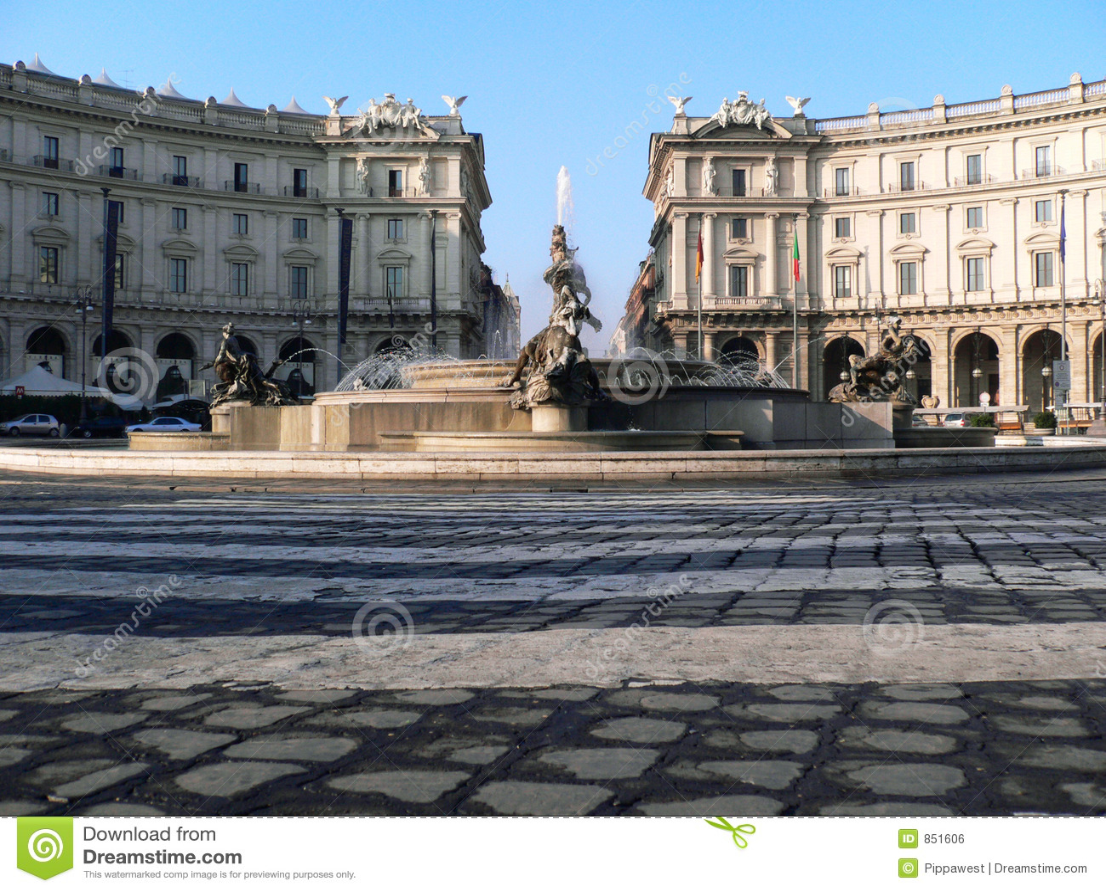 Marktplatz della Repubblica in Rom