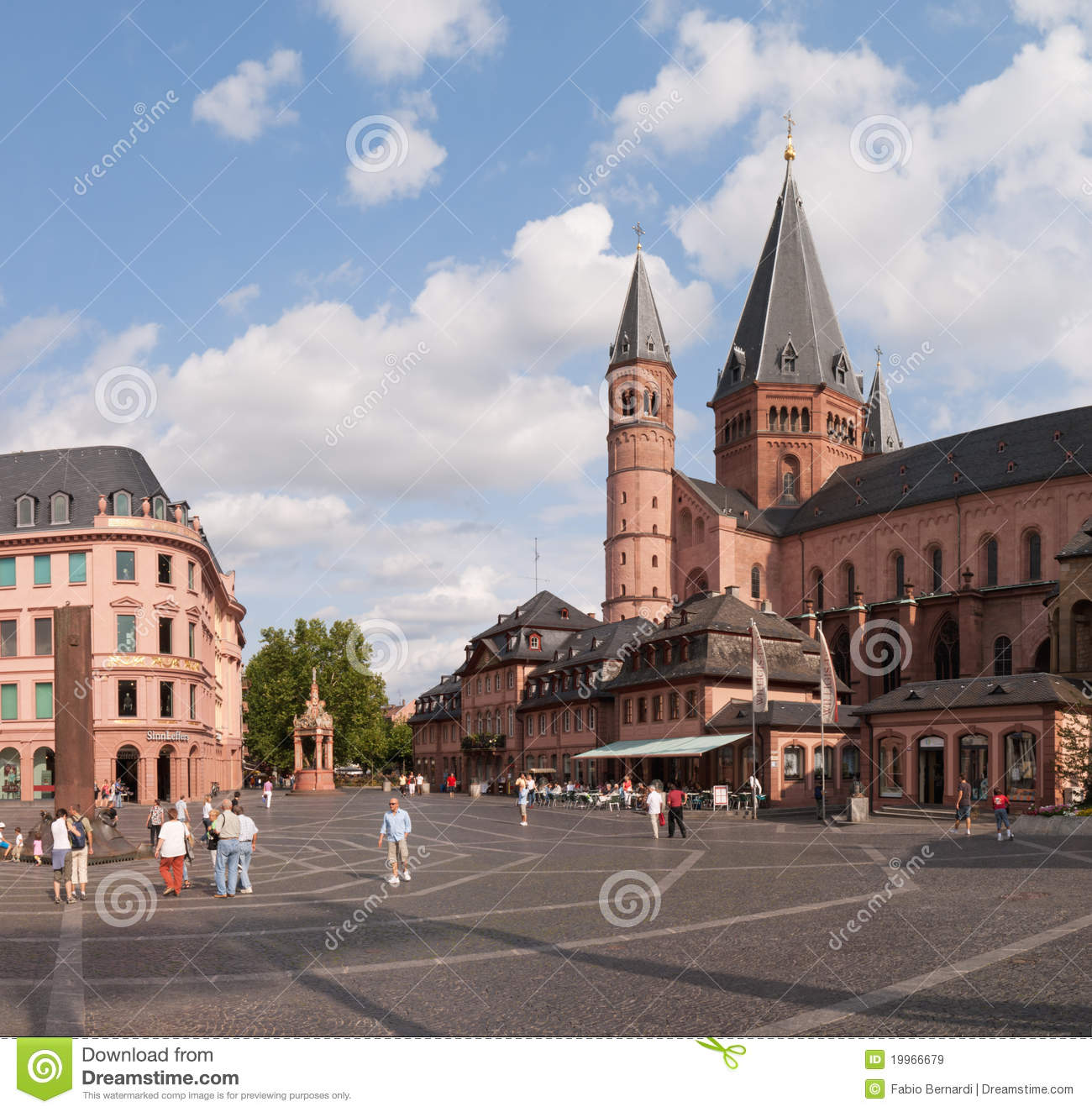marktplatz in mainz editorial stock image image 19966679. Black Bedroom Furniture Sets. Home Design Ideas