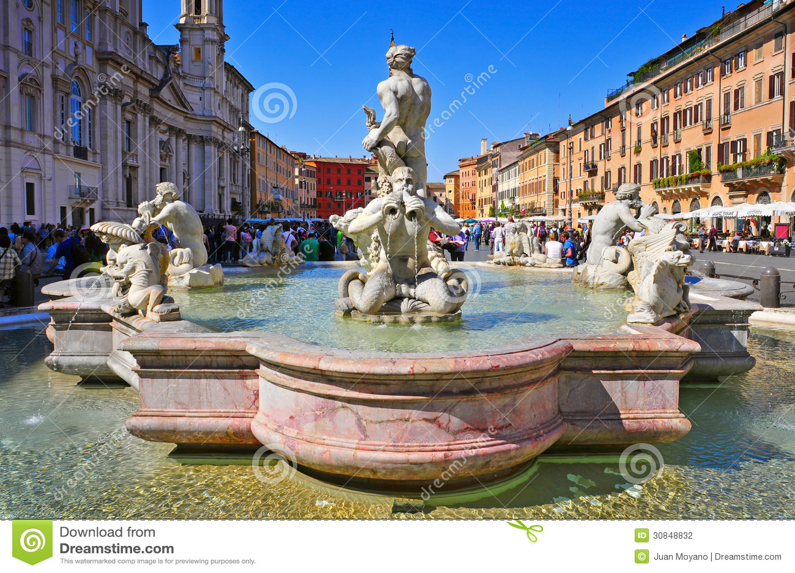 Marktplatz Navona in Rom, Italien