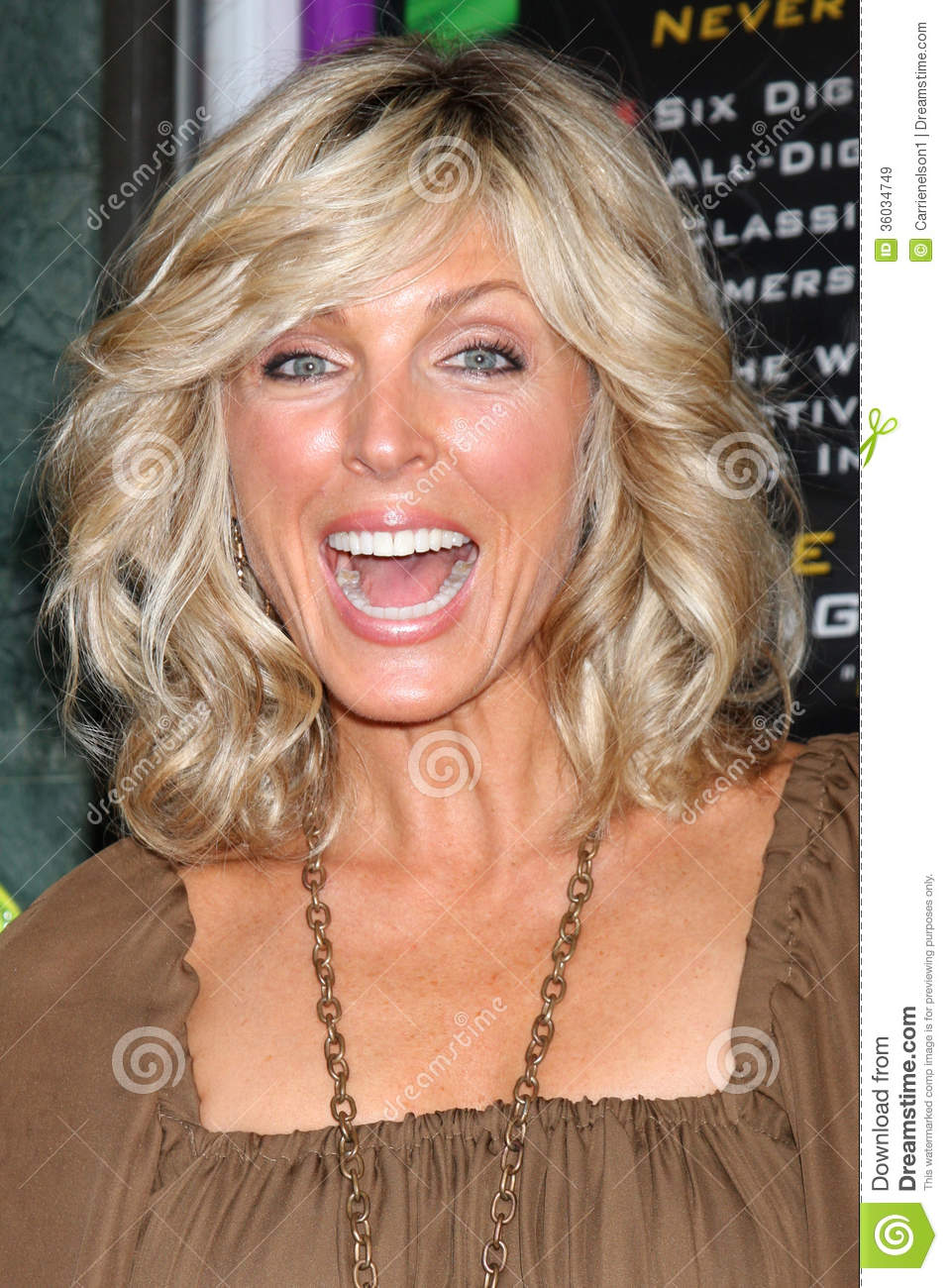 Marla Maples arriving at the Grand Opening of the Laserium in ...