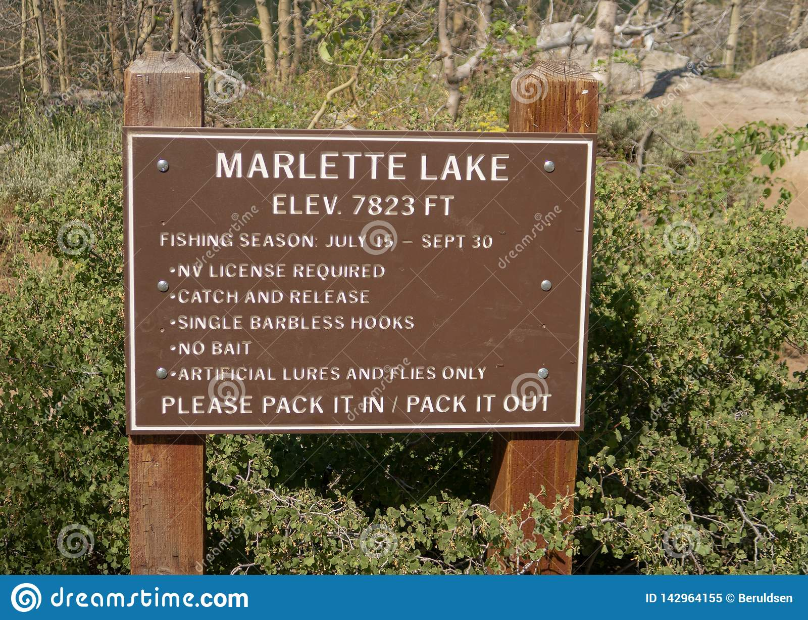 Marlette Lake in Lake Tahoe