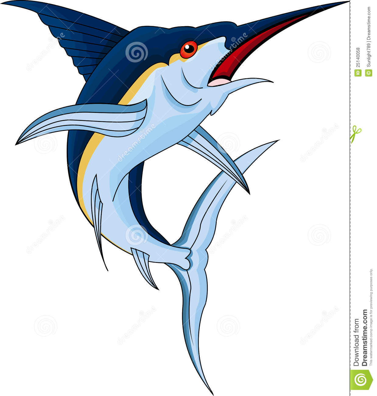 Marlin Fish Royalty Free Stock Photos - Image: 25140058